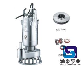 耐高温不锈钢潜污泵(丝口法兰)_双流道式叶轮结构